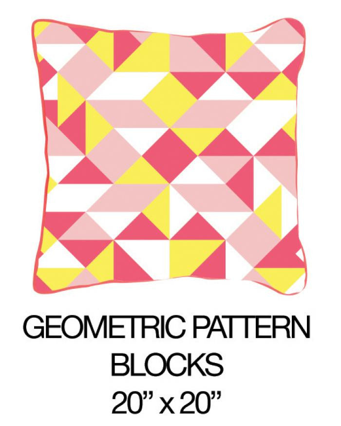 Geometric Pattern Blocks Pink - ModShop1.com