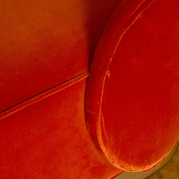 Eden Rock Sofa in Paprika Velvet