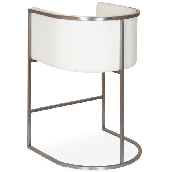 Lisbon Counter Stool in Brushed Nickel
