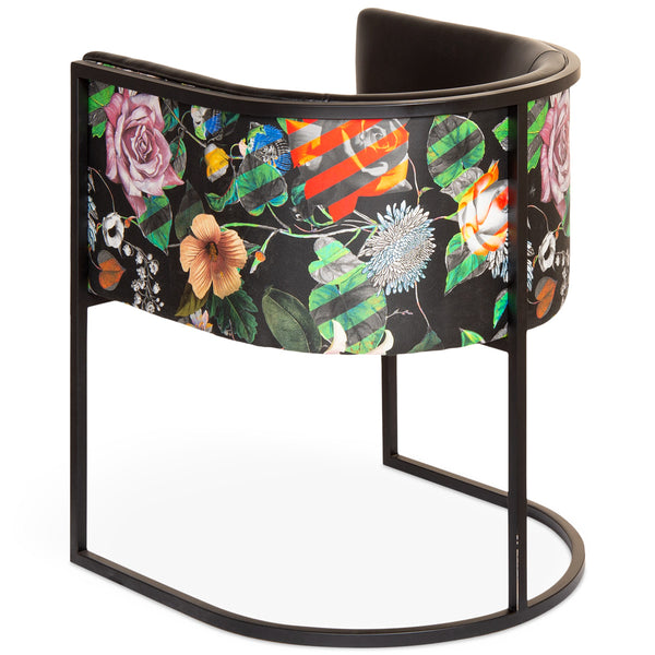 Lisbon Dining Chair with Floral Fabric