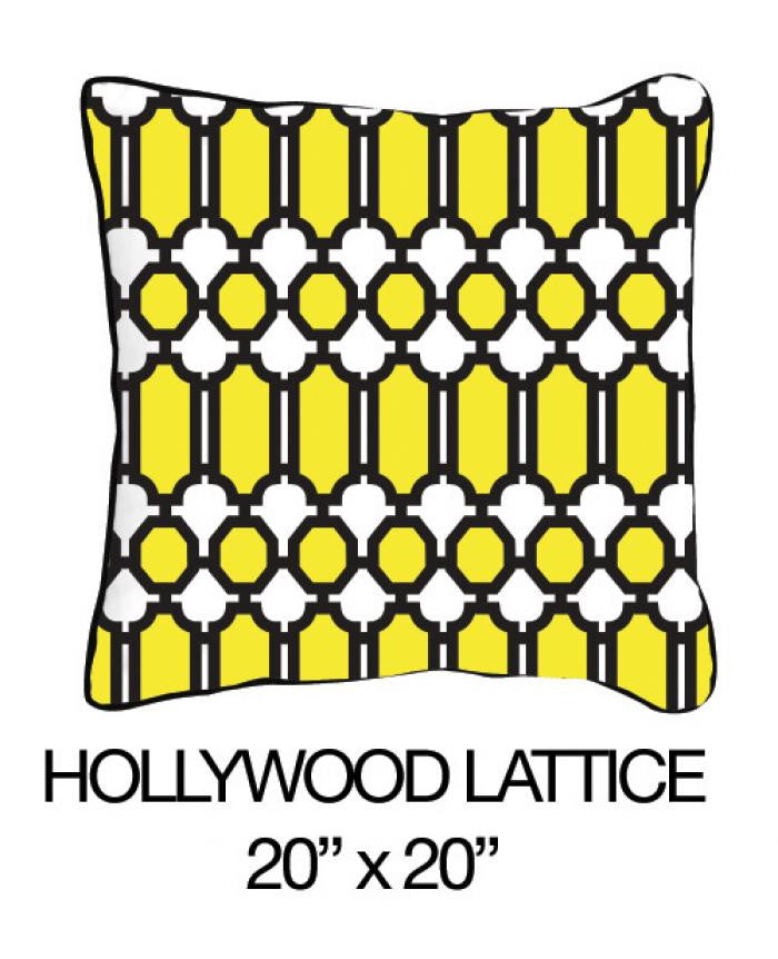 Hollywood Lattice Yellow/Black - ModShop1.com