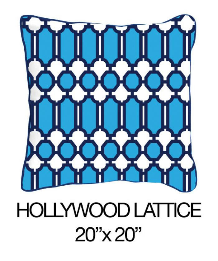 Hollywood Lattice Blue - ModShop1.com