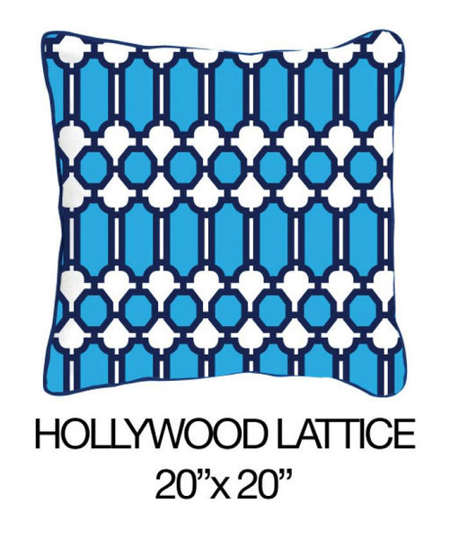 Hollywood Lattice Blue