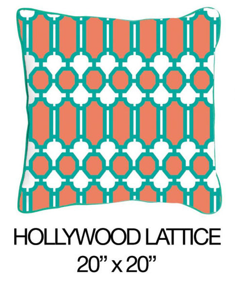 Hollywood Lattice Orange/Green - ModShop1.com