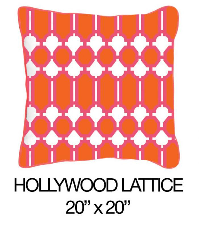 Hollywood Lattice Orange/Pink - ModShop1.com