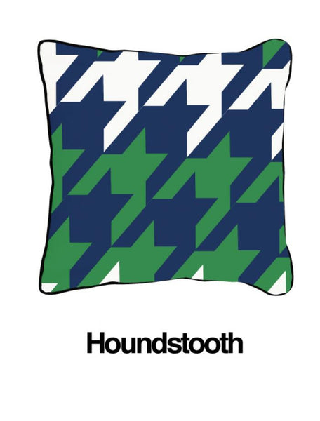 Houndstooth Blue/Green
