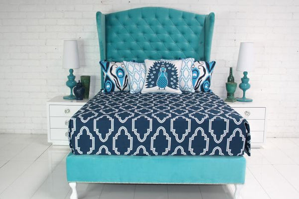 Casablanca Bedding in Navy - ModShop1.com