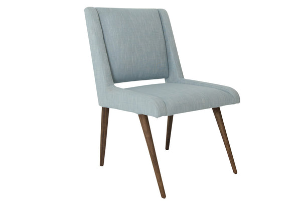 Mid Century Dining Chair in Ice Blue