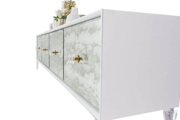 Juliette 4 Door Credenza in White