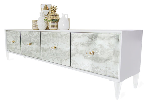 Juliette 4 Door Credenza in Matte White