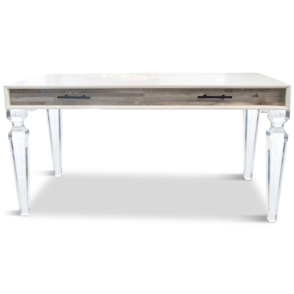 Cody Desk with Palm Beach Lucite Legs