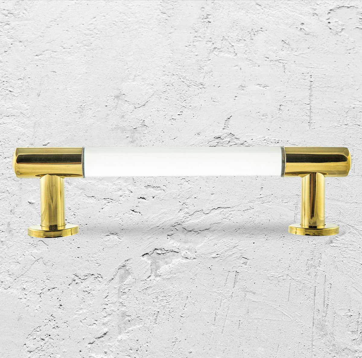 "1"" Lucite and Brass Round Bar Pull Set of 2"