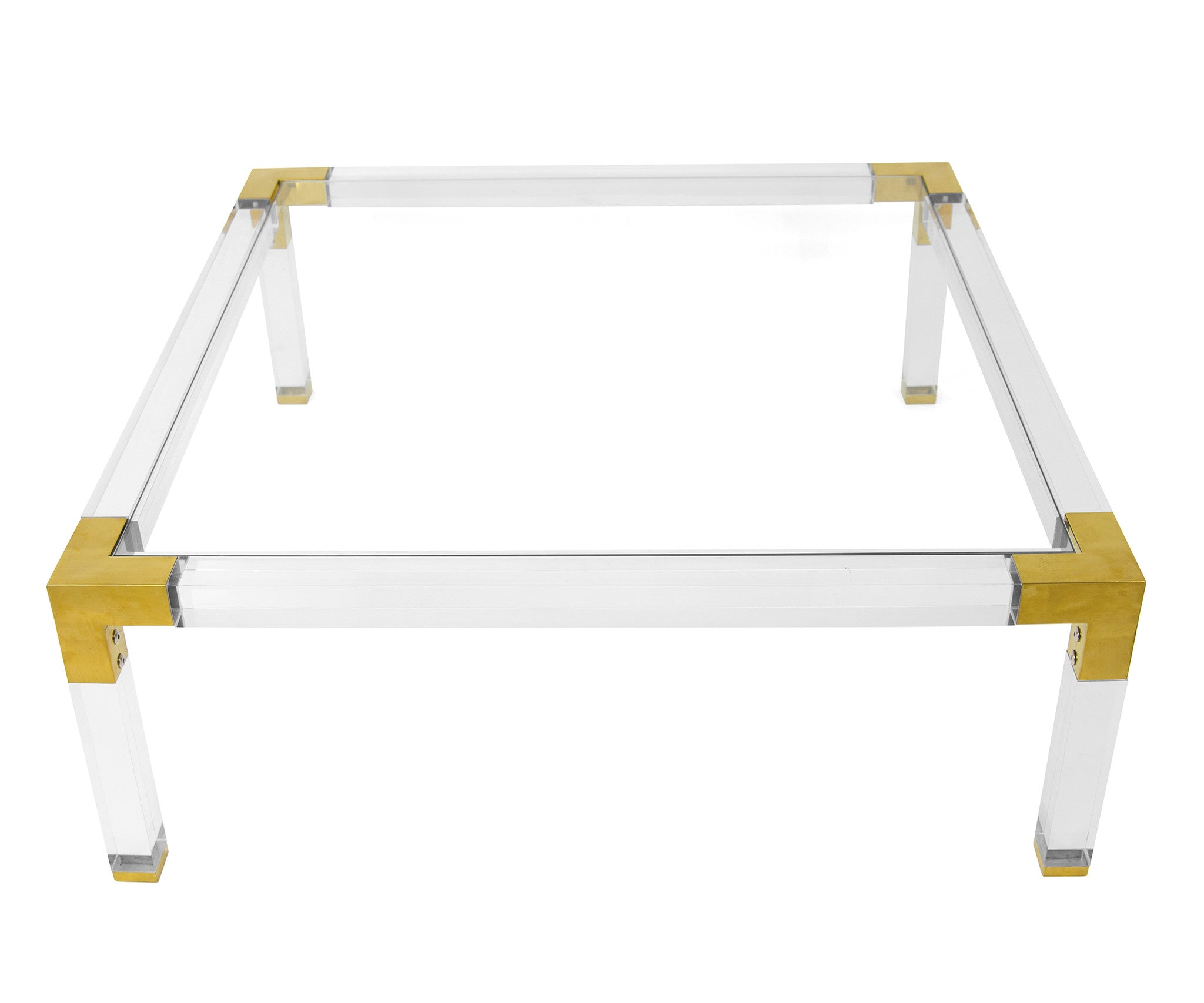 Lucite and Brass Coffee Table ModShop
