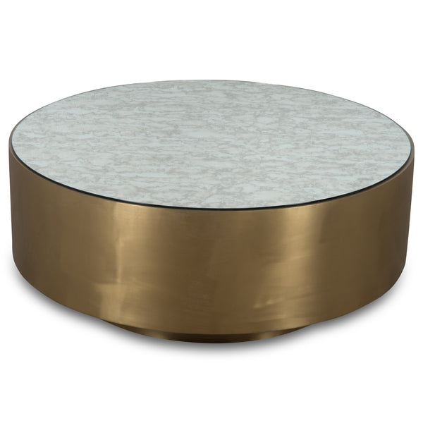 Ibiza Brass Coffee Table with Antique Mirror