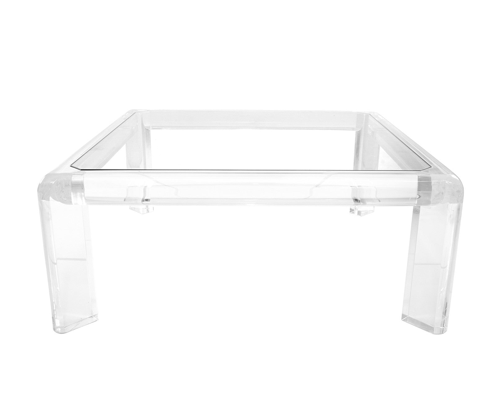 Modern 60 s Lucite Coffee Table