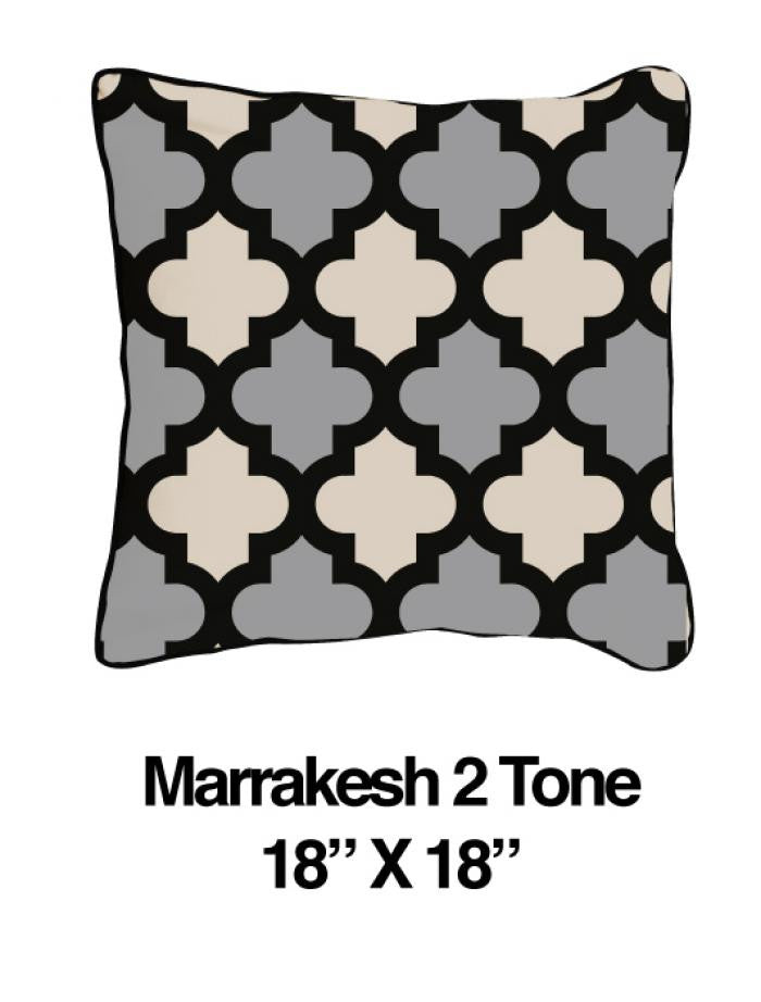 Marrakesh Pillow Two Tone Black Oatmeal - ModShop1.com