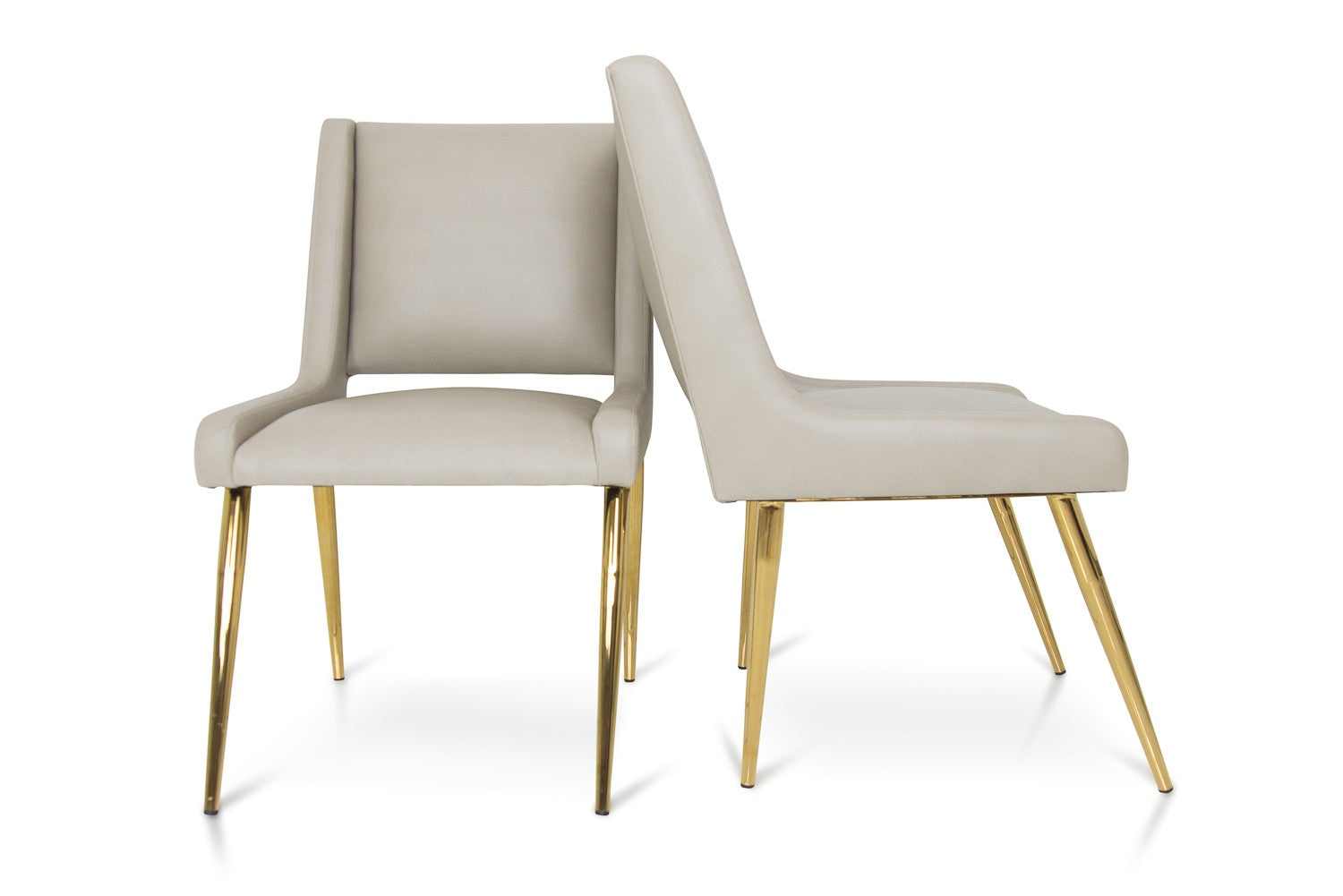 Mid Century Style Dining Chair With Brass Legs Modshop Modshop