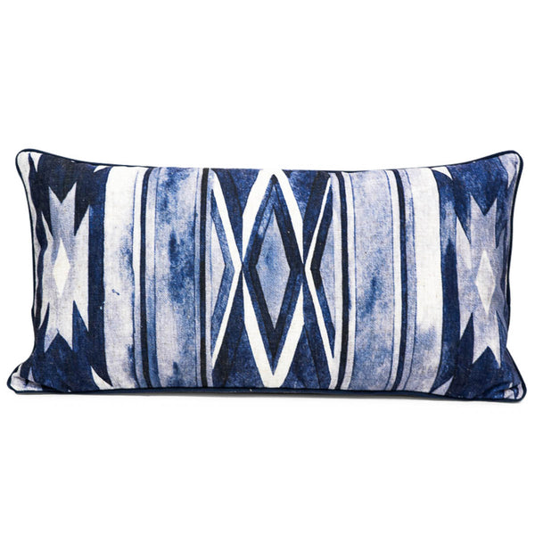 Southwest Lumbar Pillow in Navy Blue - ModShop1.com