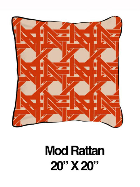 Mod Rattan Orange Oatmeal