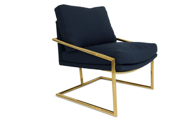 Hampton Chair in Navy Linen