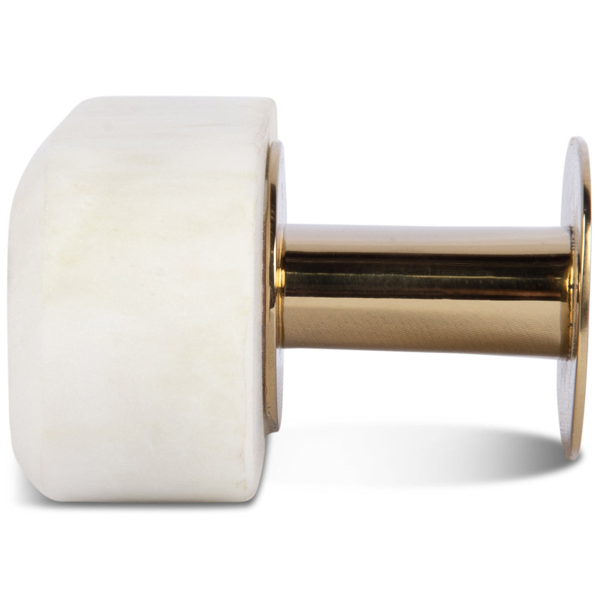 Oval White Marble Knob Pull