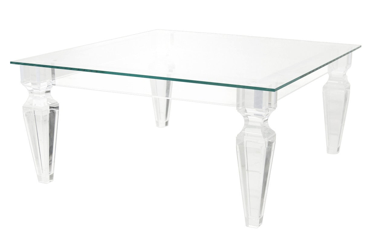 Gentil Palm Beach Lucite Coffee Table