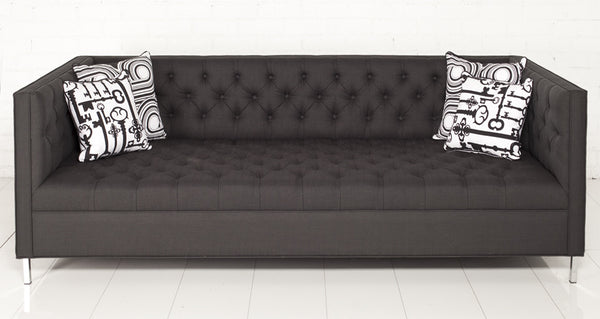 New Deep Sofa in Charcoal Linen