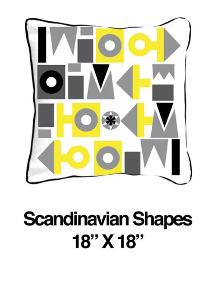 Scandinavian Shapes Yellow - ModShop1.com