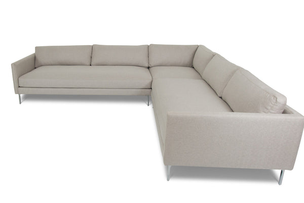 Slim Jim Sectional in Candid Fleece