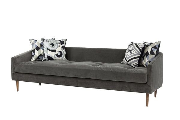 St. Barts Sofa in Charcoal Velvet