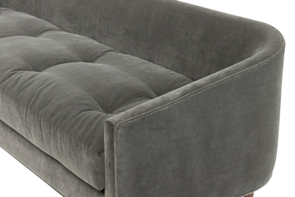 St. Bart's Sofa in Charcoal Velvet