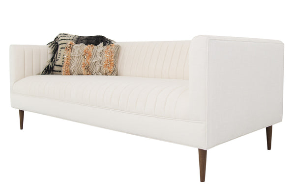 Manhattan Loveseat in Cream Linen - ModShop1.com