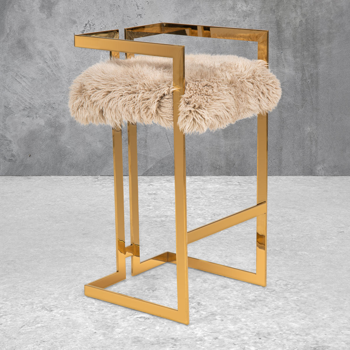 Upper East Side Bar and Counter Stool in Sheepskin