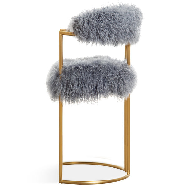 Acapulco 2 Bar and Counter Stool in Mongolian Fur - ModShop1.com
