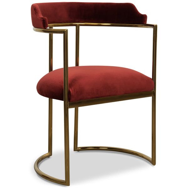 Superbe Acapulco 2 Dining Chair In Velvet