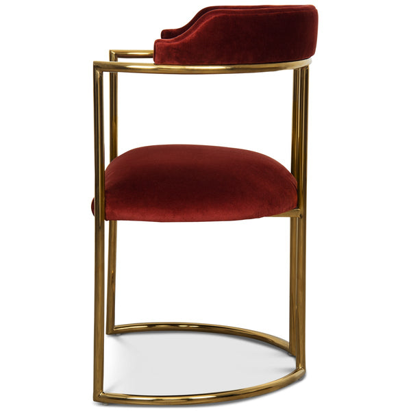 Acapulco 2 Dining Chair in Velvet - ModShop1.com