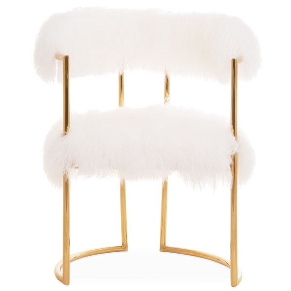 Acapulco 2 Dining Chair In Mongolian Fur