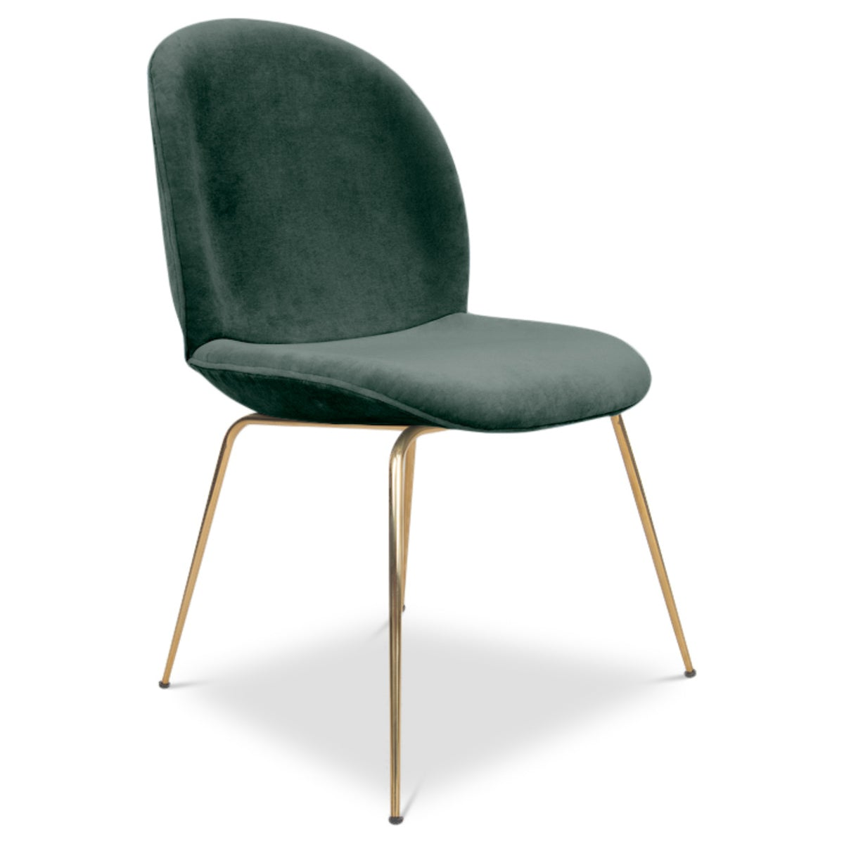 Amalfi dining chair modern chair with velvet finish for Dining designer chairs