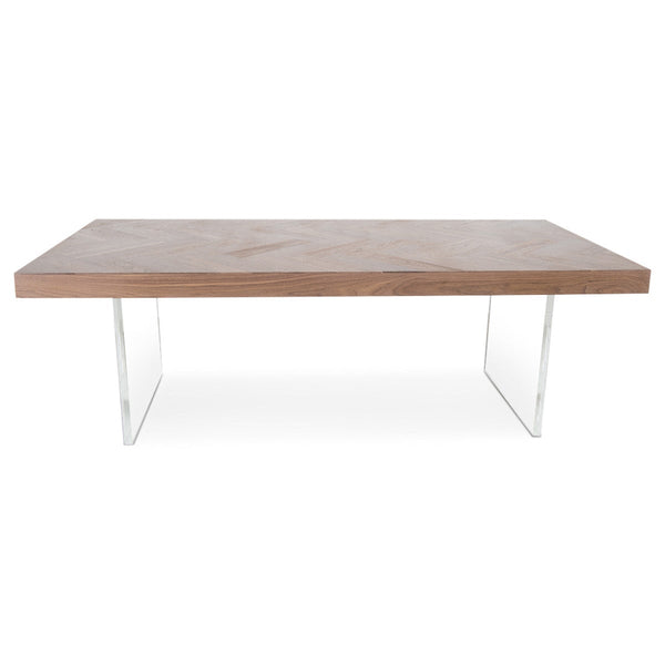 Amalfi Dining Table in Natural Hand Rubbed Solid Walnut