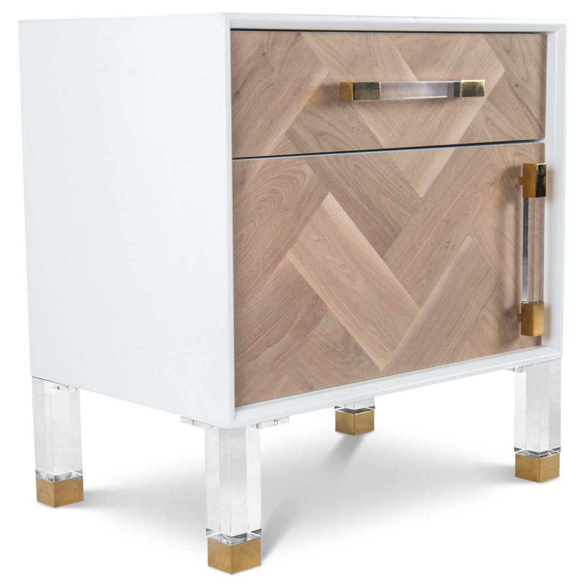Amalfi 1 Drawer 1 Door Side Table - ModShop1.com