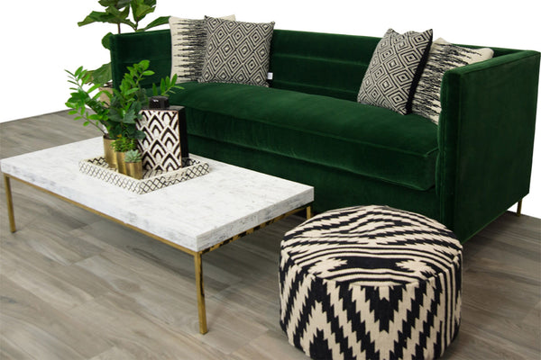 Amalfi Sofa in Emerald Velvet