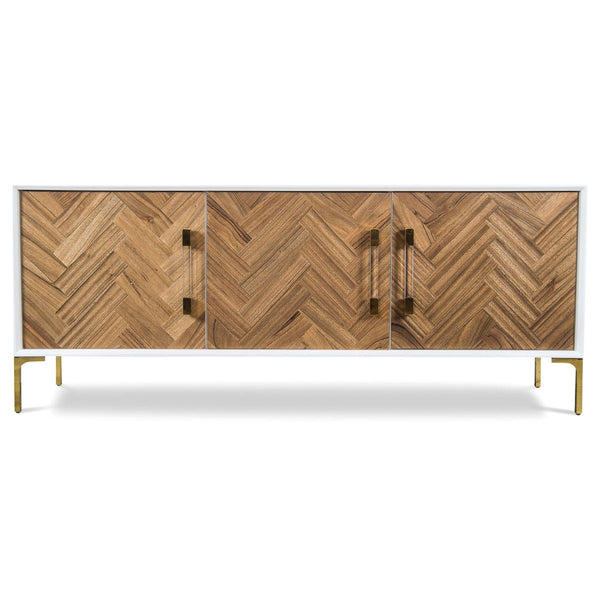 Amalfi 3 Door Credenza in Bleached or Oiled Walnut