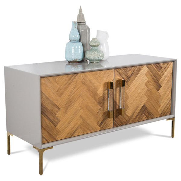 Amalfi 2 Door Credenza in Oiled Walnut - ModShop1.com