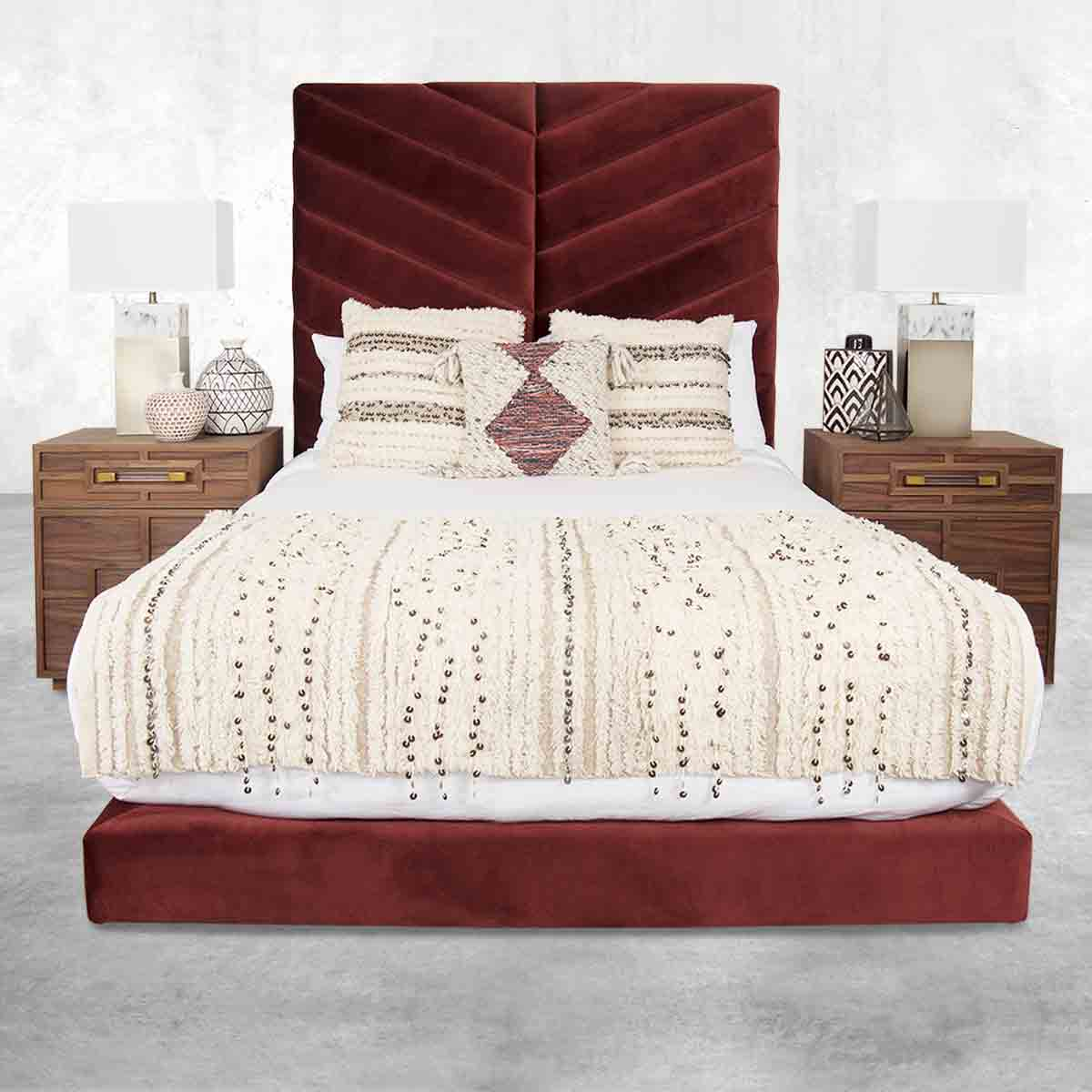 Amalfi Bed in Velvet