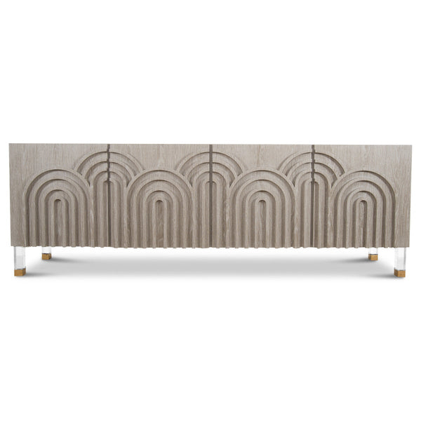 Arches 4 Door Credenza in Oak