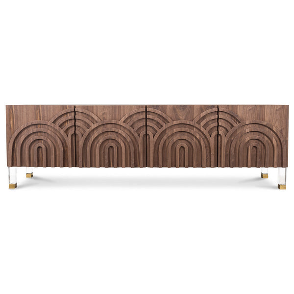 Arches Four Door Credenza in Walnut