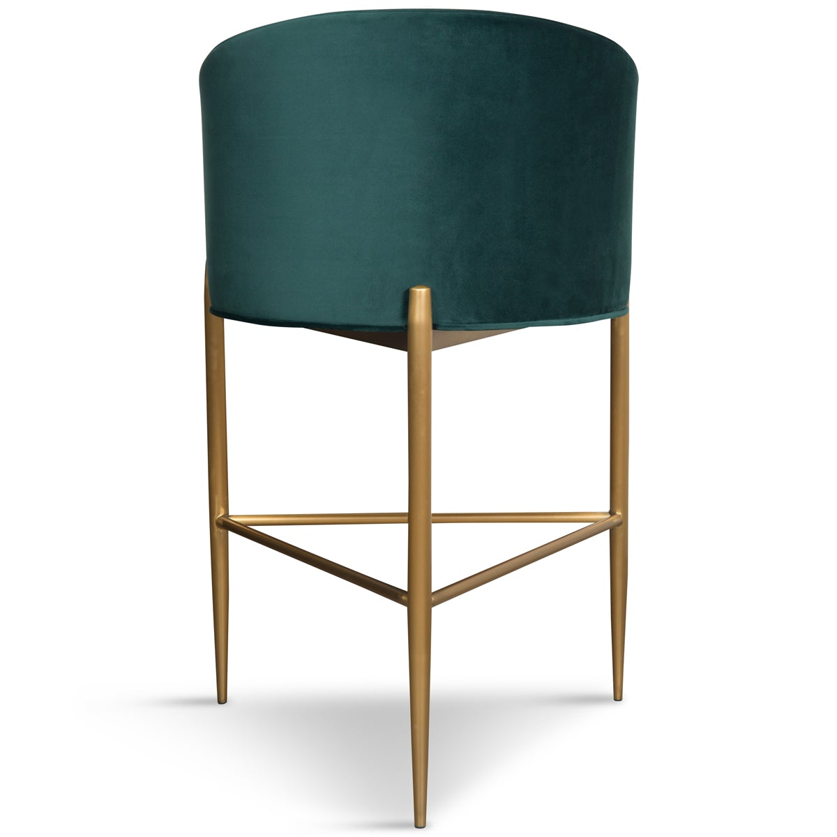 Art Deco Bar and Counter Stool in Velvet with Channel Tufting - ModShop1.com