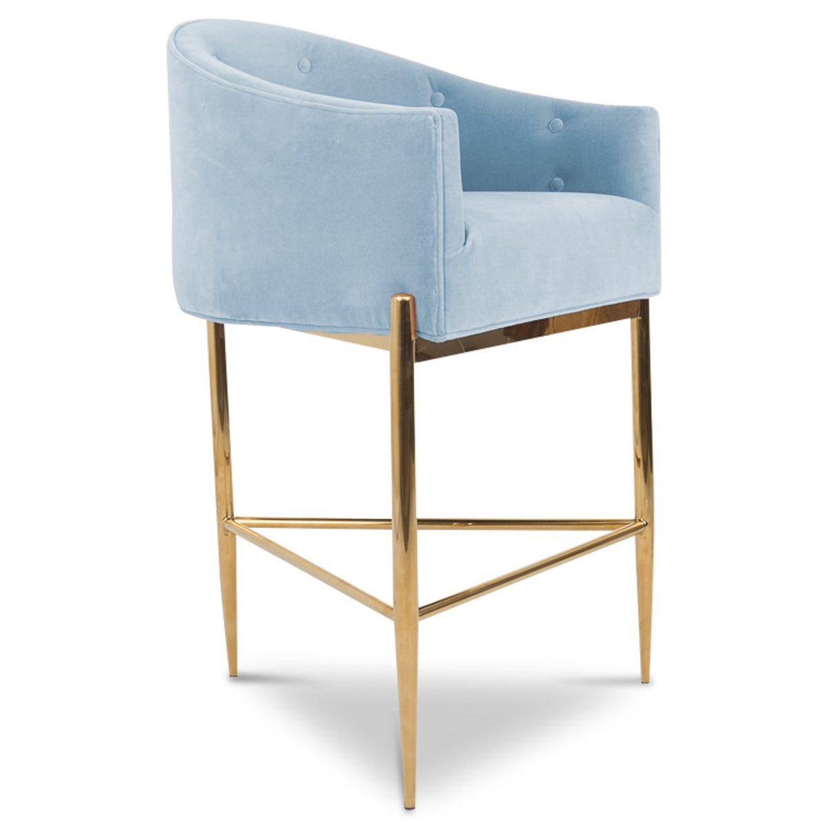 Awesome Art Deco Bar And Counter Stool In Velvet