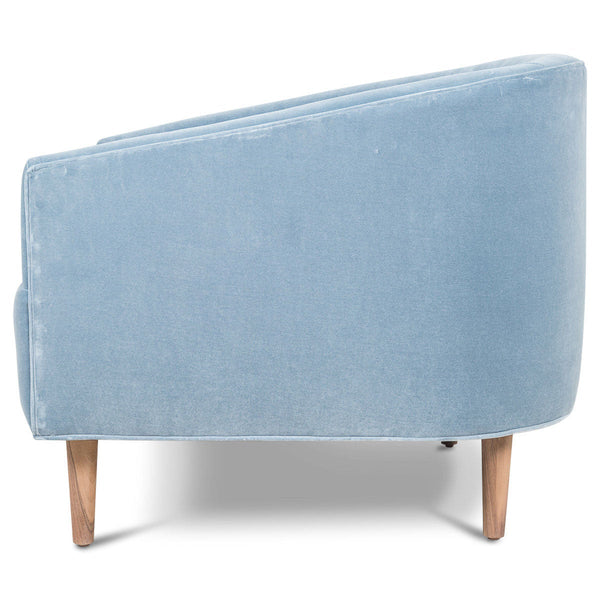 St. Barts Chair in Powder Blue Velvet