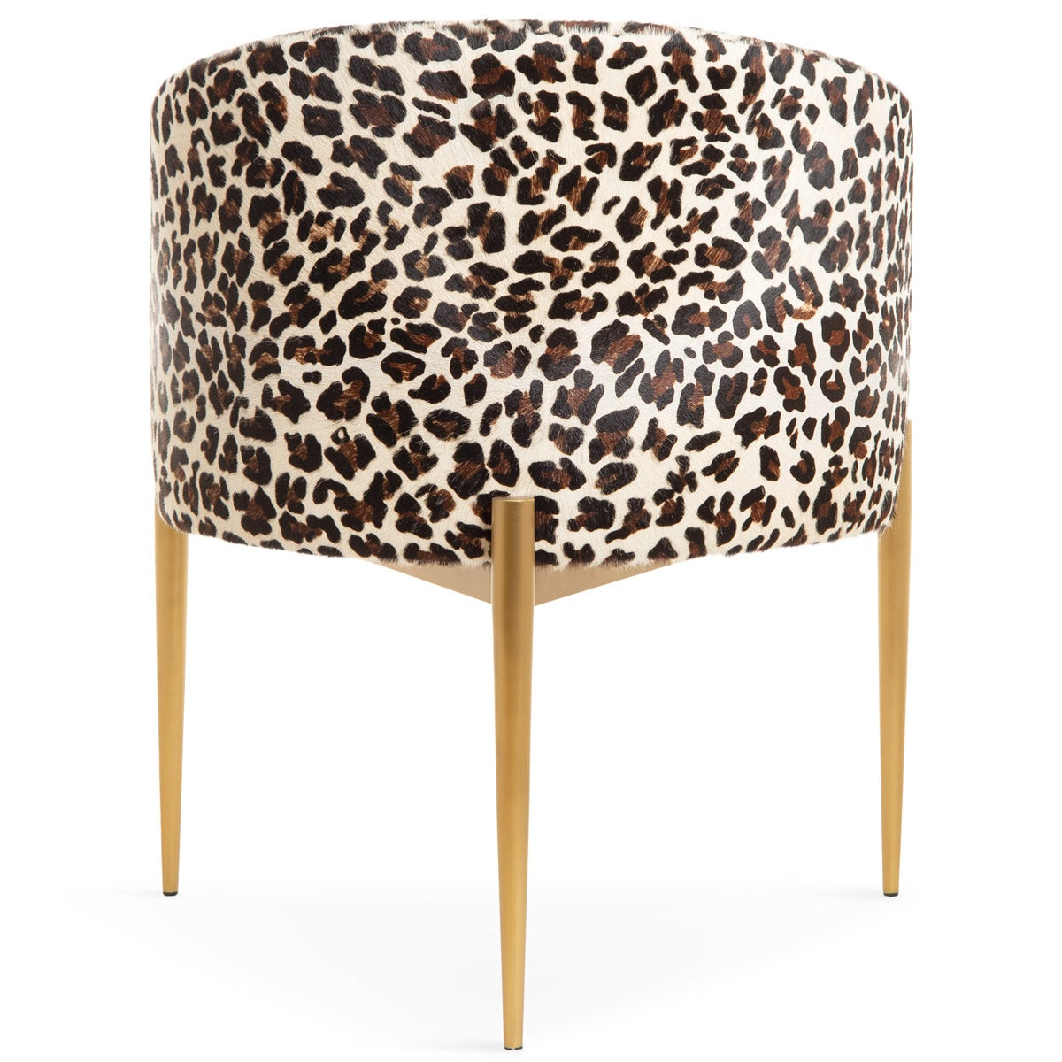Art Deco Dining Chair in Leopard Print Cowhide - ModShop1.com